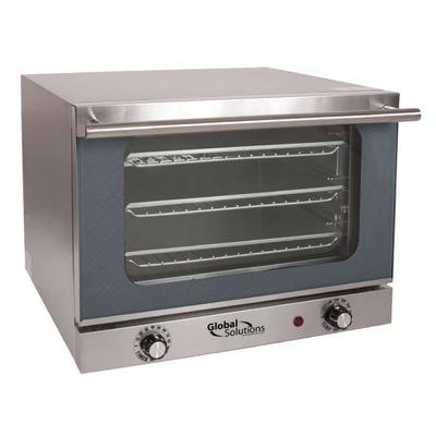 Global Solutions GS1200 Single Half Size Electric Convection Oven - 1.3 kW, 120v/1ph