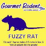 Frozen Fuzzy Rat - 50 Count, 50 CT
