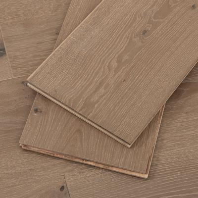 Greige European Oak Hardwood Flooring, 4mm veneer, Sample