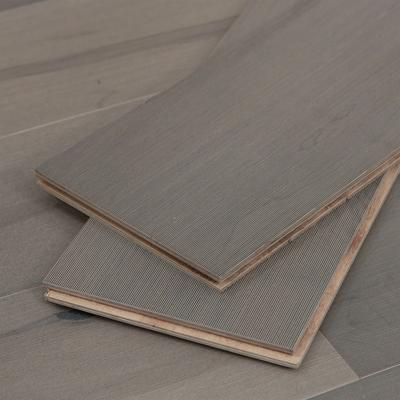 Gray Engineered Maple Hardwood Flooring, 2mm veneer, Sample