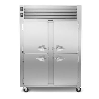 Traulsen RDT232WUT-HHS 58 Two Section Commercial Refrigerator Freezer - Solid Doors, Top Compressor, 115v on Sale