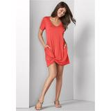 Knotted Casual Dress - RED