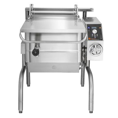 Groen BPM-15GC 15 gal. Tilt Skillet - Open Leg Base, Polished Pan, Measurement Marks, NG on Sale