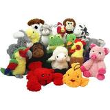 Multipet Look Who's Talking Assorted Animals Plush Dog Toy, Character Varies