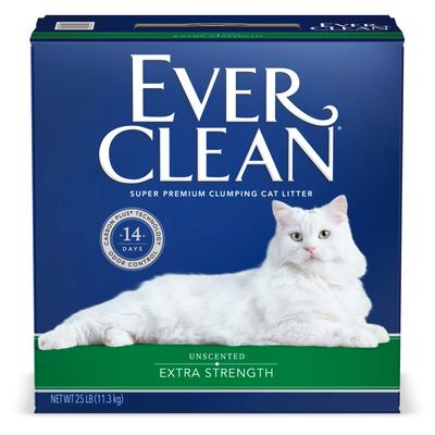 Ever Clean Extra Strength Unscented Clumping Cat Litter, 25 lbs.