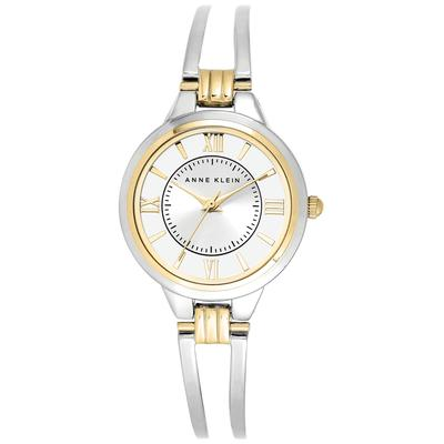 Anne Klein Watch, Women's Two-Tone Bangle Bracelet 29mm Ak-1441SVTT - Two-Tone
