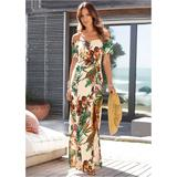 OFF THE Shoulder Maxi Dress - Multi/white