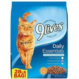 9 Lives Daily Essentials with Chicken, Beef & Salmon Flavor Dry Cat Food, 28-lb bag