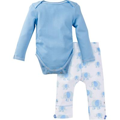 Miracle Baby Long Sleeve Bodysuit and Pant Outfit - Blue