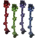 Multipet Nuts For Knots 4-Knot Rope Dog Toy, Color Varies