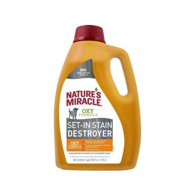 Nature's Miracle Dog Set-In Stain Destroyer Oxy Formula, Orange Scent, 1-gal bottle