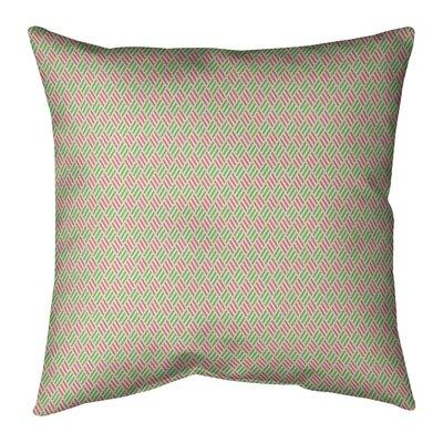 East Urban Homeeast Urban Home Katelyn Elizabeth Stripe Diamonds Indoor Outdoor Throw Pillow X113233348 Size 18 H X 18 W Color Pink Green Dailymail