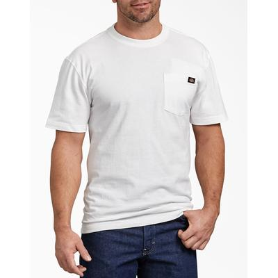 Dickies Men's Short Sleeve Heavyweight T-Shirt - White Size S (WS450)