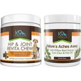 K9 Nature Supplements Hip & Joint Bundle for Aging Dog Supplement, 115-count