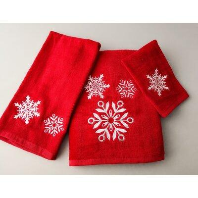 The Holiday Aisle Durkin 3 Piece 100 Cotton Towel Set 100 Cotton In Red Size 48 H X 24 W X 48 D Wayfair 9e22d06db75d4e1ca498cd9d976c4ce3 From Wayfair Ibt Shop