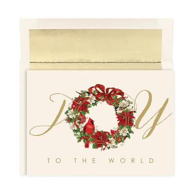 Masterpiece Studios Cardinal Wreath Set of 18 Boxed Greeting Cards With Envelopes