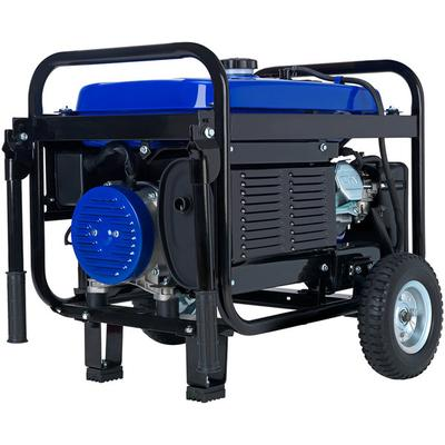 DuroMax XP5500E Portable 7.5 HP Gasoline Generator with Electric / Recoil Start and Wheel Kit - 5,500/4,500W, 120V