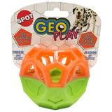 Ethical Pet Geo Play Dual Textured Squeaky Dog Chew Toy, Color Varies, 3.25-in