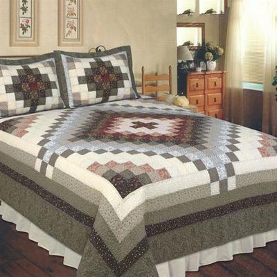 Sahara Patchwork Quilt Charcoal, Full / Queen, Charcoal