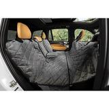 Plush Paws Products Quilted Velvet Waterproof Center Console Access Hammock Car Seat Cover, London Grey, X-Large