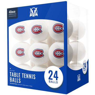 Montreal Canadiens 24-Count Logo Table Tennis Balls