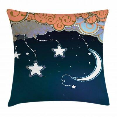 East Urban Homeeast Urban Home Cartoon Night Sky Indoor Outdoor 36 Throw Pillow Cover Polyester Polyester Blend In Blue Orange Size 24 Up Wayfair Dailymail