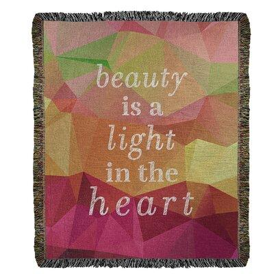 East Urban Home Faux Gemstone Beauty Inspirational Quote Cotton Woven Blanket Cotton In Rainbow Pyrite Size Queen Wayfair Shefinds