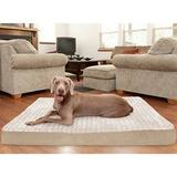 FurHaven Ultra Plush Deluxe Cooling Gel Pillow Dog Bed w/Removable Cover, Cream, Jumbo Plus