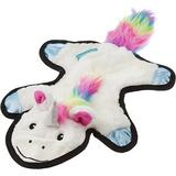 Frisco Mythical Mates Flat Plush Squeaking Unicorn Dog Toy, White