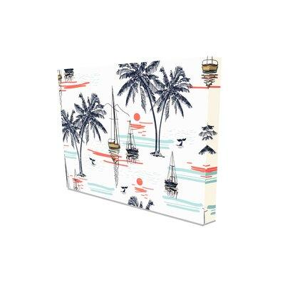 East Urban Home Beautiful Tropical Coconut Palm Trees Wrapped Canvas Graphic Art Print Canvas Fabric In Brown White Wayfair Shefinds