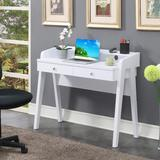 Newport Deluxe 2 Drawer Desk in White - Convenience Concepts 125812W