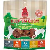 Plato Keep Em' Busy Chicken & Apple Toy Refill Dog Treats, 5-oz bag, Large