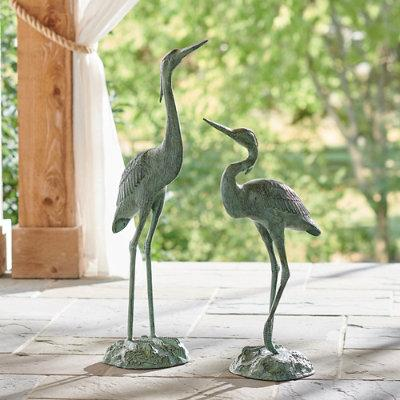 Garden Herons, Set Of Two - Grandin Road
