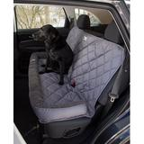 3 Dog Pet Supply - 3 Dog Pet Supply Quilted Car Back Seat Protector with Bolster, Grey Fleece