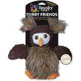 Spunky Pup Furry Friends Owl Squeaky Plush Dog Toy