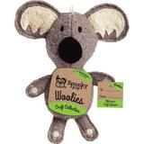 Spunky Pup Woolies Craft Collection Koala Squeaky Plush Dog Toy