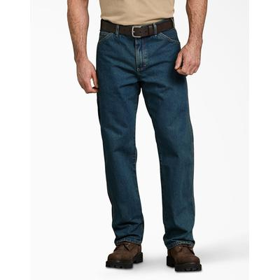 Dickies Men's Relaxed Fit Stonewashed Carpenter Denim Jeans - Heritage Tinted Khaki Size 33 32 (19294)
