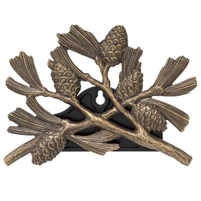 Pinecone Hose Holder in French Bronze by Whitehall Products