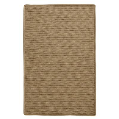Simple Home Solid Rug, Size 2'W x 5'L in Cafe by Colonial Mills