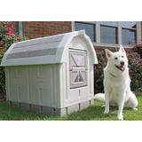 Dog Palace Dog House & Fleece Bed, Grey/Taupe