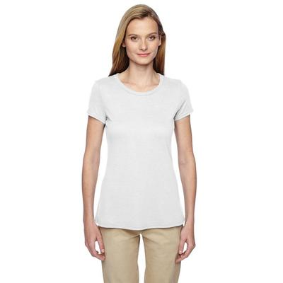Jerzees 21WR Women's 5.3 oz. DRI-POWER SPORT T-Shirt in White size XL | Polyester