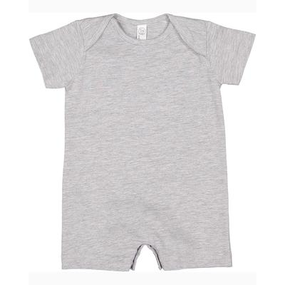 Rabbit Skins 4486 Infant Premium Jersey T-Romper Top in Heather size 6MOS | Cotton/Polyester Blend