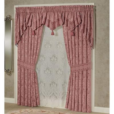 Grandview Swag Valance Pair Rose 60 x 36, 60 x 36, Rose