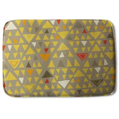 Corrigan Studio Allbritton Triangles Designer Rectangle Non Slip Geometric Bath Rug Polyester In Yellow Gold Size 24 H X 17 W X 24 D Wayfair Ibt Shop
