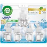 Air Wick - Air Wick Scented Oil Air Freshener Fresh Air Wick Essential Oils Snuggle Fresh Linen Fragrance Air Freshener & Refills, 5 countRefill, 5 count