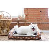 La-Z-Boy Duke Orthopedic Bolster Dog Bed w/Removable Cover, Sunset, 29-in