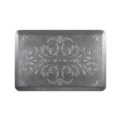WellnessMats Frontgate Series Scroll Comfort Mat - Midnight Blue, 3' x 2' Midnight Blue - Frontgate