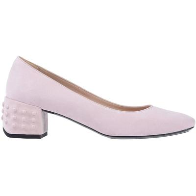 Women\\\'s Tod\\\'s Pumps & High Heels For Women - Pink - Pumps Powder Pink. On Sale in Outlet. Made in Italy. Round Toe. Rubber Nubs on Heel. Leather and Rubber Sole. Suede leather. Womens Shoes: Tods Pumps & High Heels for Women. Pumps.