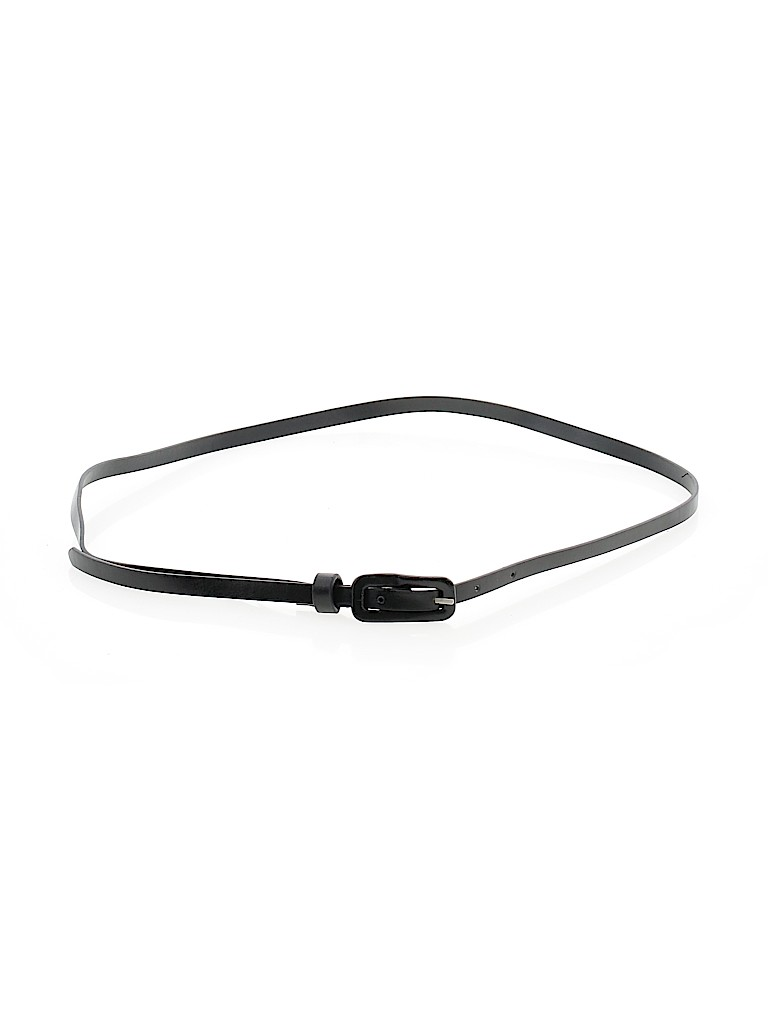 Leather Belt: Black Solid Accessories - Size 12