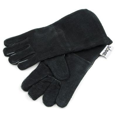 Lodge A5-2 13.5 Camp Gloves w/ 400 Degree Heat Protection, Black Leather on Sale